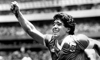 Diego Maradona bei der WM 1986