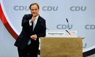 In seiner Bewerbungsrede gibt sich der künftige CDU-Chef Armin Laschet lässig.