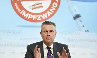 Eine der politischen Führungsfiguren der Coronaskeptiker: FPÖ-Chef Norbert Hofer.