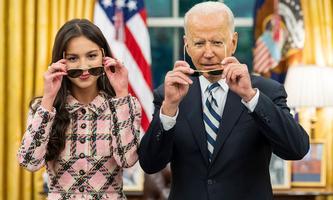 Olivia Rodrig mit US-Präsident Joe Biden