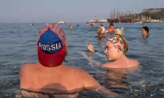 Ein Bild aus besseren Zeiten: Russen auf Badeurlaub in der Türkei.