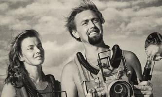 Ein glamouröses tauchendes Paar: Der Meeresforscher Hans Hass und Lotte, mit der er mehr als sechzig Jahre verheiratet ist.