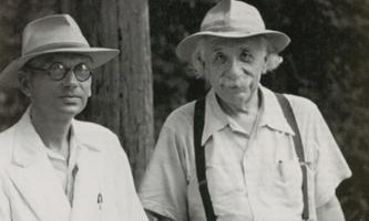 Zwei Freunde, zwei Genies: Kurt Gödel und Albert Einstein.