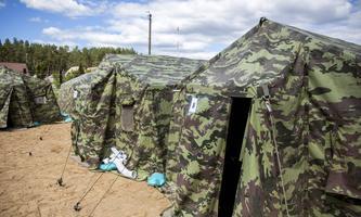 Neu errichtetes Lager in Pabrade, 40 km von Vilnius entfernt
