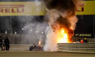 Motorsports: FIA Formula One World Championship, WM, Weltmeisterschaft 2020, Grand Prix of Bahrain, A fire is pictured