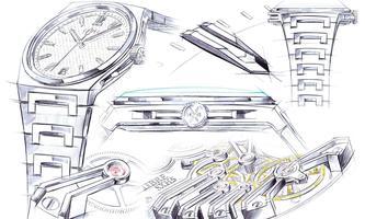 Eigenentwicklung. Das Manufakturkaliber SXH5 ist ein optisch attraktives Klobenwerk mit mindestens 56 Stunden Gangreserve.