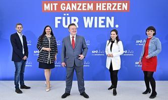 WIEN-WAHL: SPÖ WAHLPROGRAMM UND KANDITATENLISTE: SCHULZ / NOVAK / LUDWIG / BOZATEMUR / WENINGER