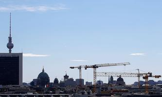 The Berlin skyline is seen during the visit of King Willem-Alexander and Queen Maxima of the Netherlands, in Berlin