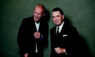 Benjamin von Stuckrad-Barre und Martin Suter: Der eine redet, der andere sagt etwas.