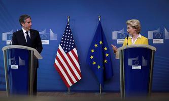 Freundlichere Signale aus Washington. US-Außenminister Antony Blinken bei einem Treffen mit EU-Kommissionspräsidentin Ursula von der Leyen.
