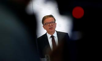 Austrian Health Minister Rudolf Anschober attends a news conference, in Vienna