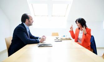 """Wird nun Unternehmerin: Eva Glawischnig. Im Gespräch mit """"Presse""""-Innenpolitik-Chef Oliver Pink."""