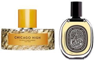 """City-Hopping. """"Chicago High"""" von Vilhelm Parfumerie (50 ml um 135 Euro ) und """"Eau Capitale"""" von Diptyque (75 ml um 135 Euro)."""