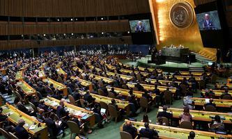 Joe Biden spricht vor der UNO-Vollversammlung.