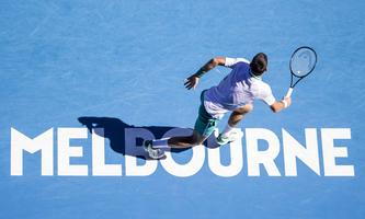 MELBOURNE, VIC - FEBRUARY 10: Novak Djokovic of Serbia in action during round 2 of the 2021 Australian Open on February