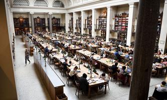 Lesesaal der Hauptuni Wien