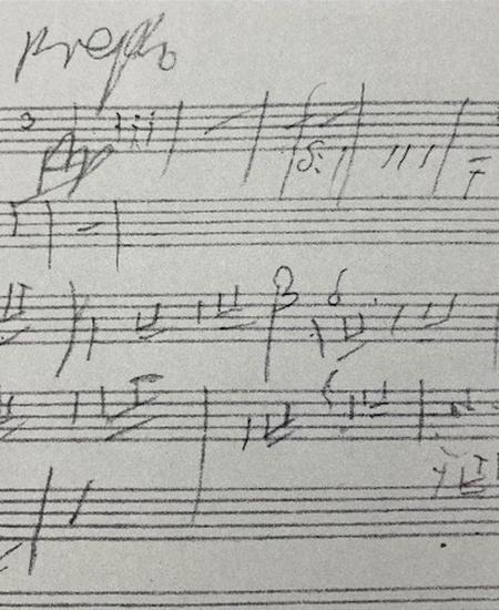 Beethovens letztes Skizzenblatt