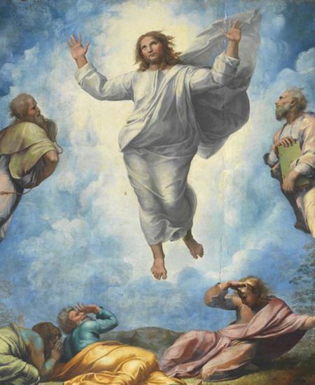 "Die ""Verklärung Christi"" (Ausschnitt)."