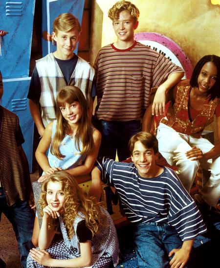 """Die TV-Sendung """"Mickey Mouse Club"""" war ihr Bootcamp – und einige sind bis heute erfolgreich: Ryan Gosling und Justin Timberlake (hinten), Britney Spears (Mitte) und Christina Aguilera (vorn)."""