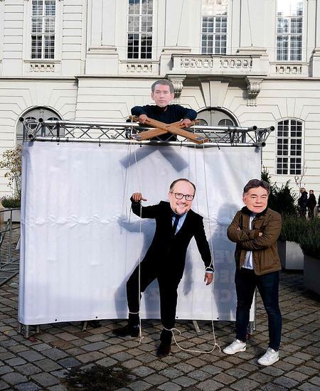 """Proteste am Mittwoch: Schallenberg als """"Marionette"""" von Kurz?"""
