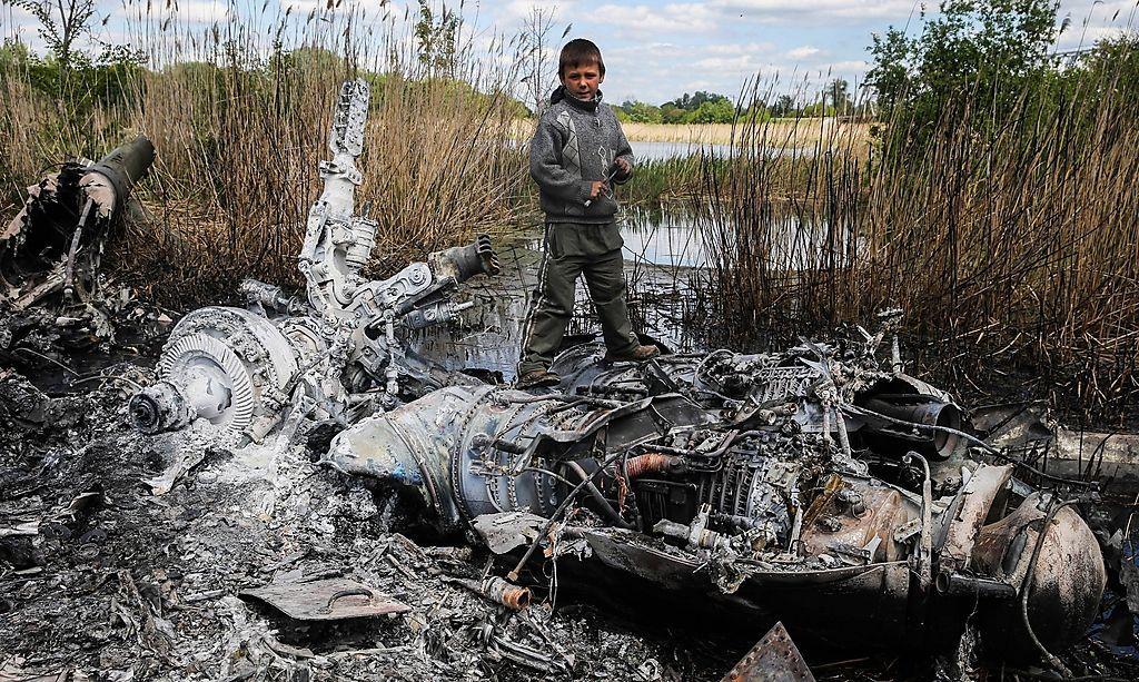 Reste einer abgeschossenen Mi-24