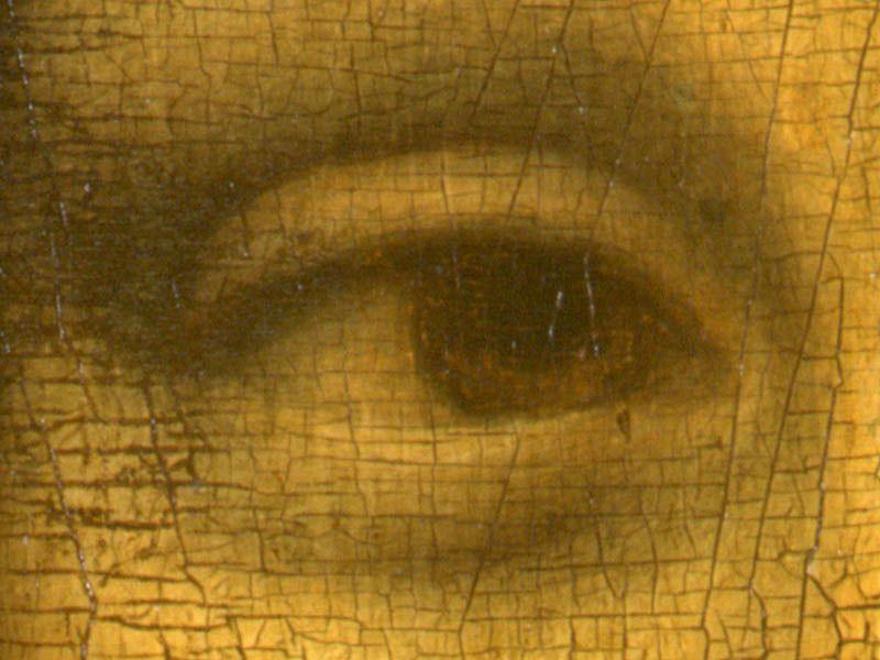 Sehen Sie das L links neben der Pupille?