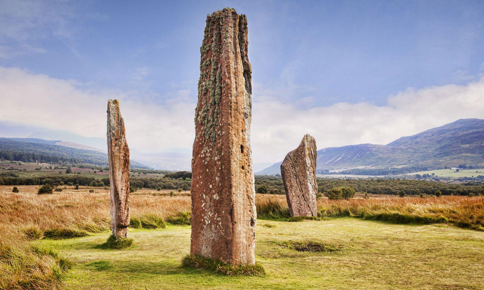 Megalithische Steinkreise von Machrie Moor.