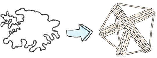 DNA Strang faltet sich zu Tetraeder