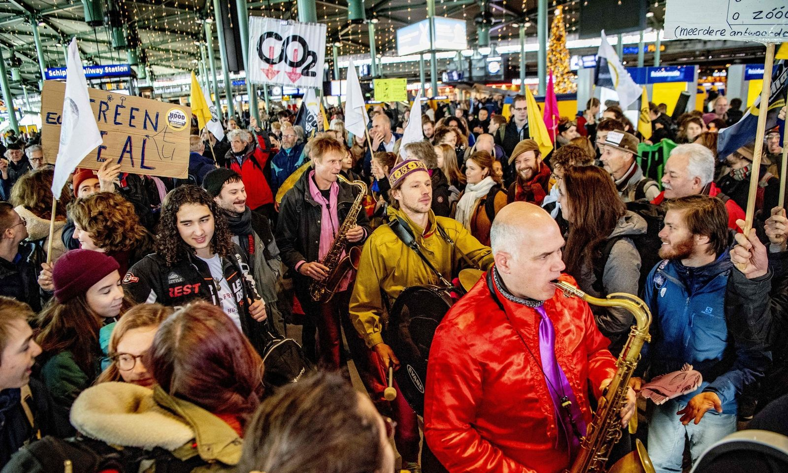 Proteste am Flughafen