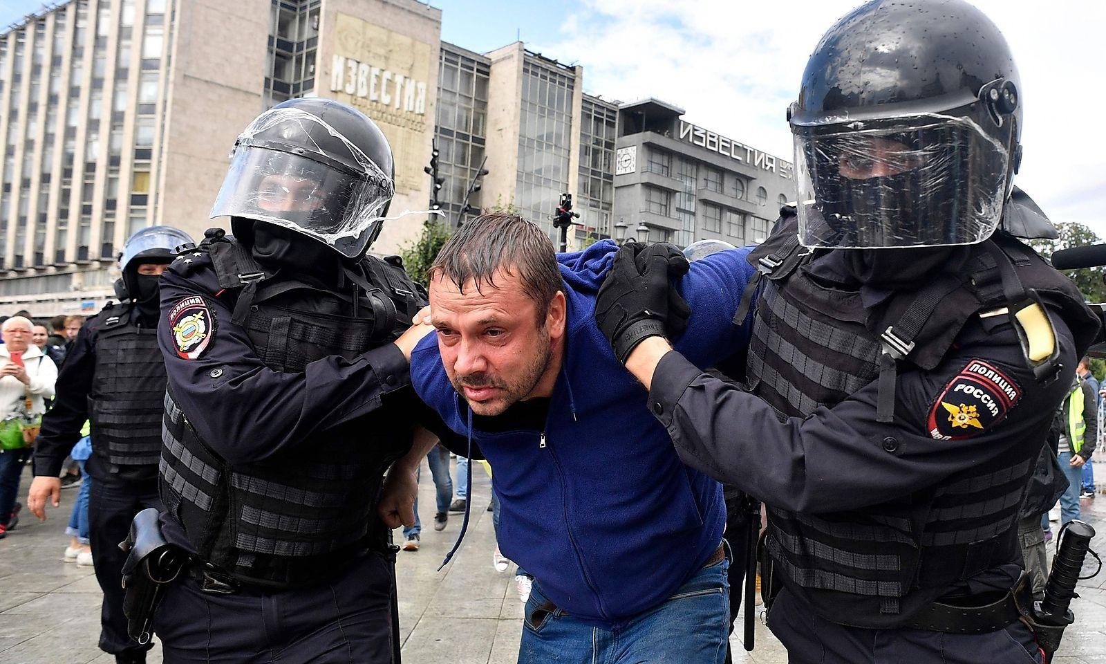Zahlreiche Menschen wurden festgenommen.