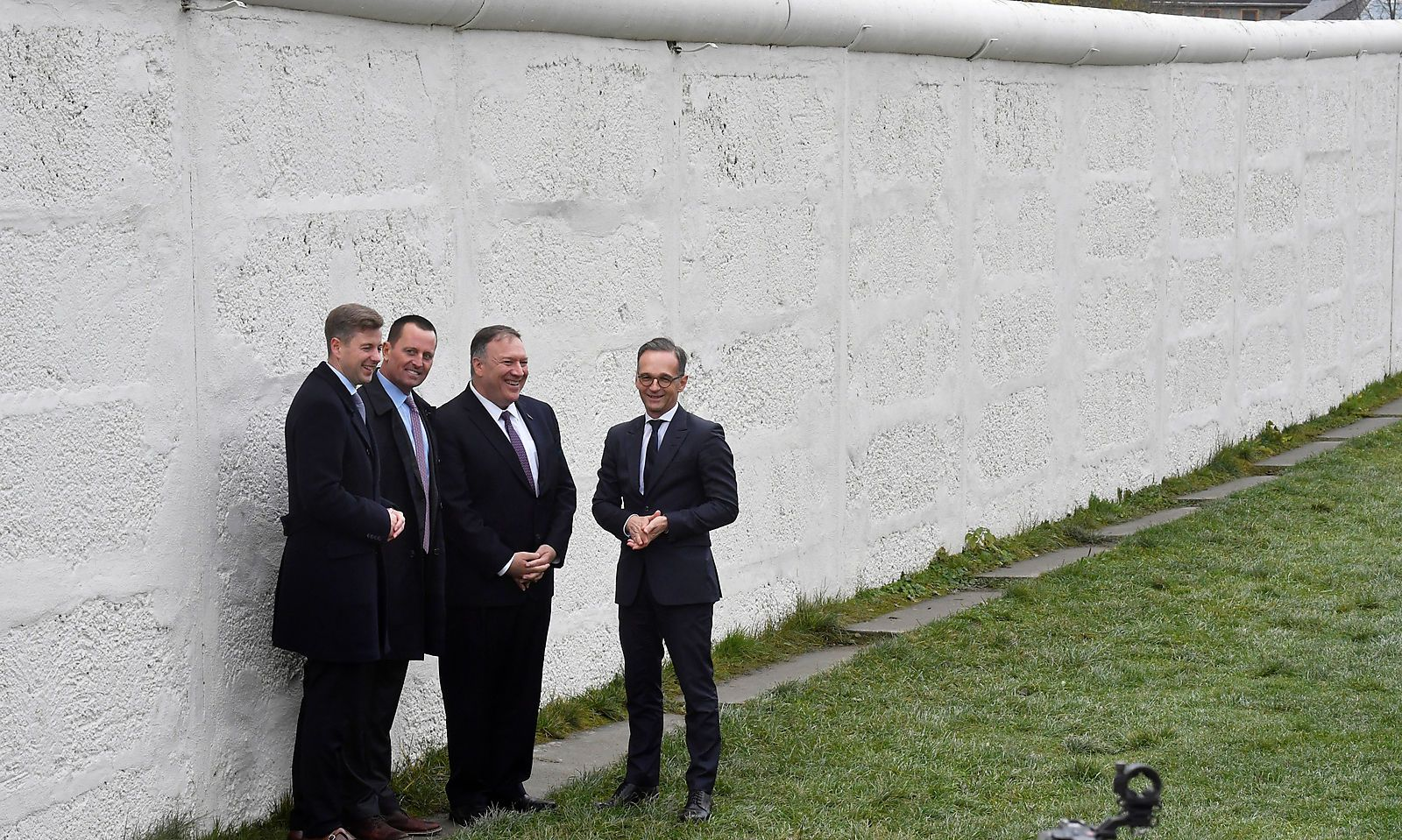 U.S. Secretary of State Mike Pompeo and his German counterpart Heiko Maas visit the village of Moedlareuth