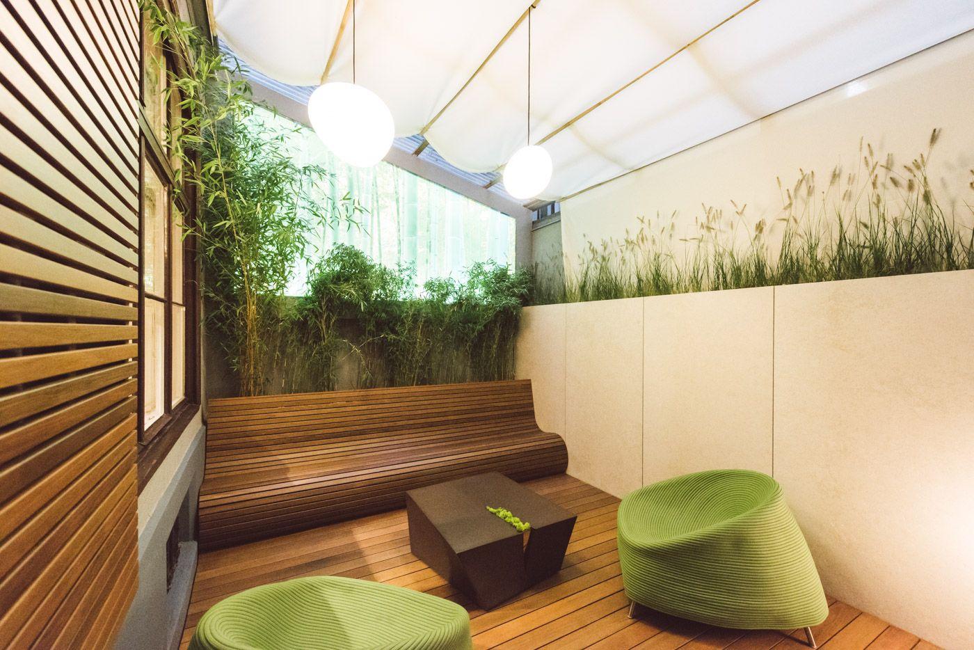 Veranstaltungsort, Showroom und Innenhofidylle beim Gartengestalter Begründer Argegarten.