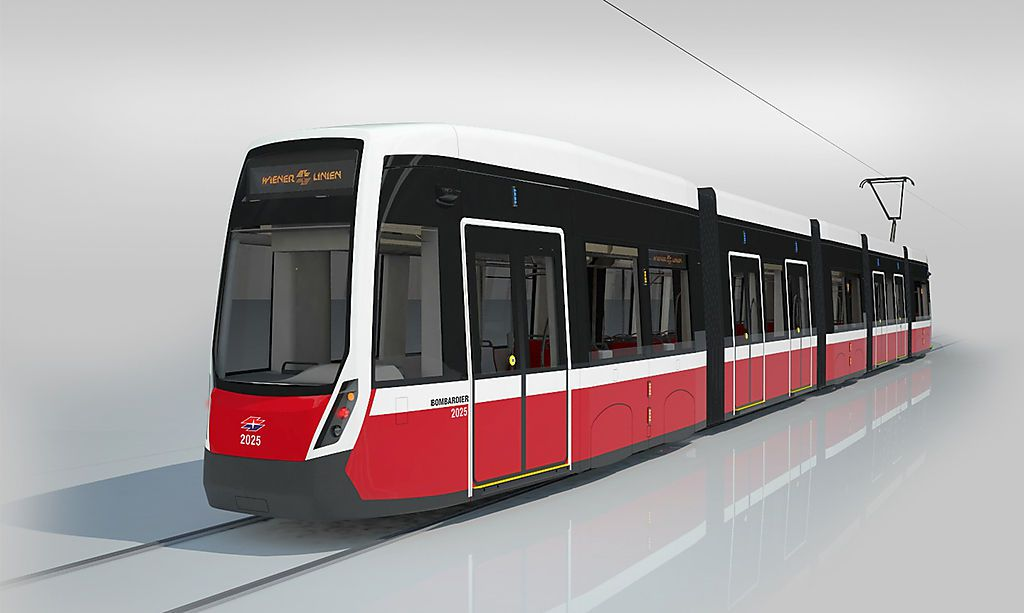 Visualisierung zeigt die neue Flexity-Straßenbahn für Wien