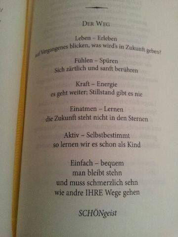 Bereits vergangenes Jahr ist ein Gedicht von Angelika Schön in der