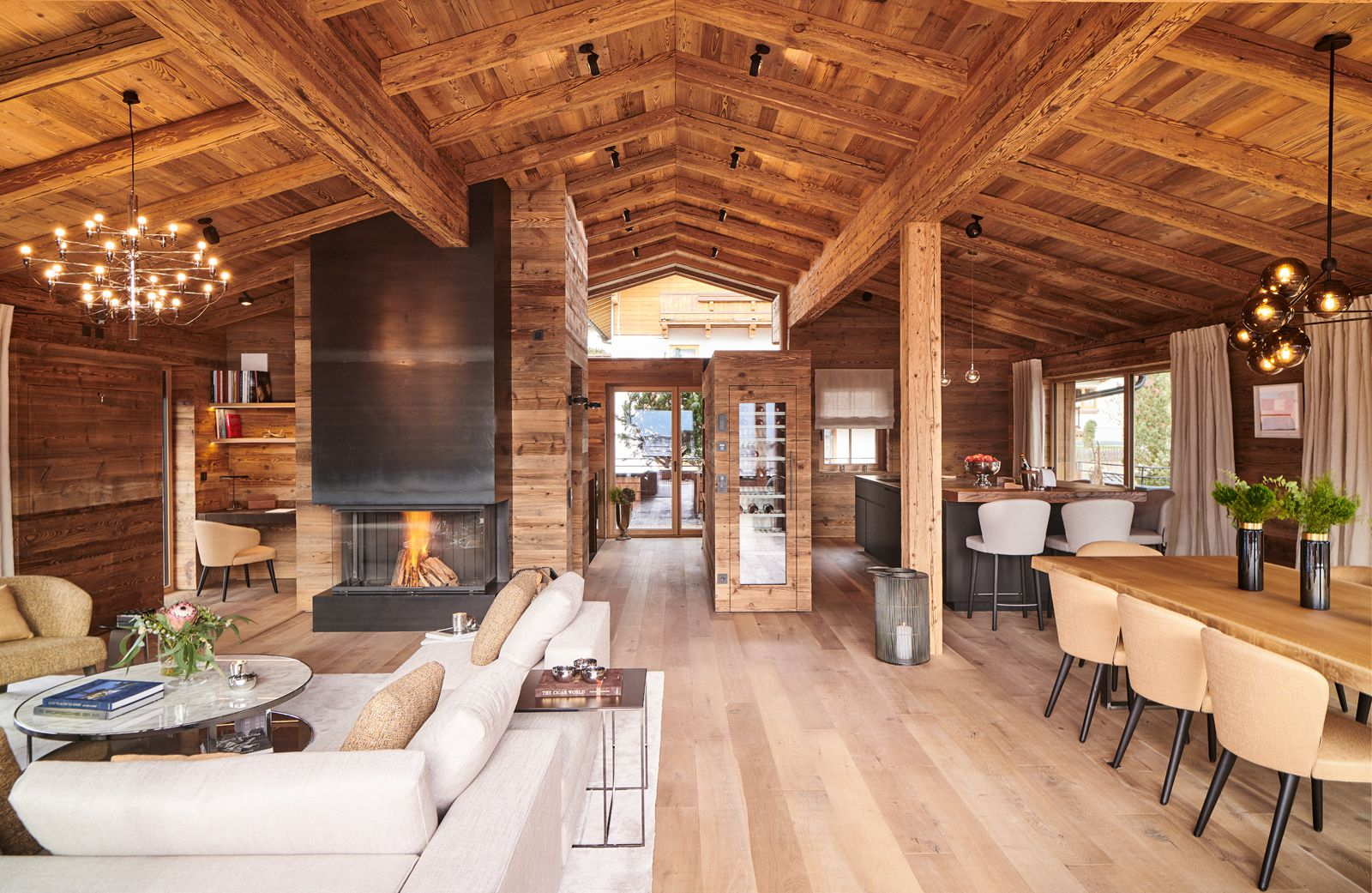 Chalet H in Kirchberg: Alpinstil trifft auf US-Design.