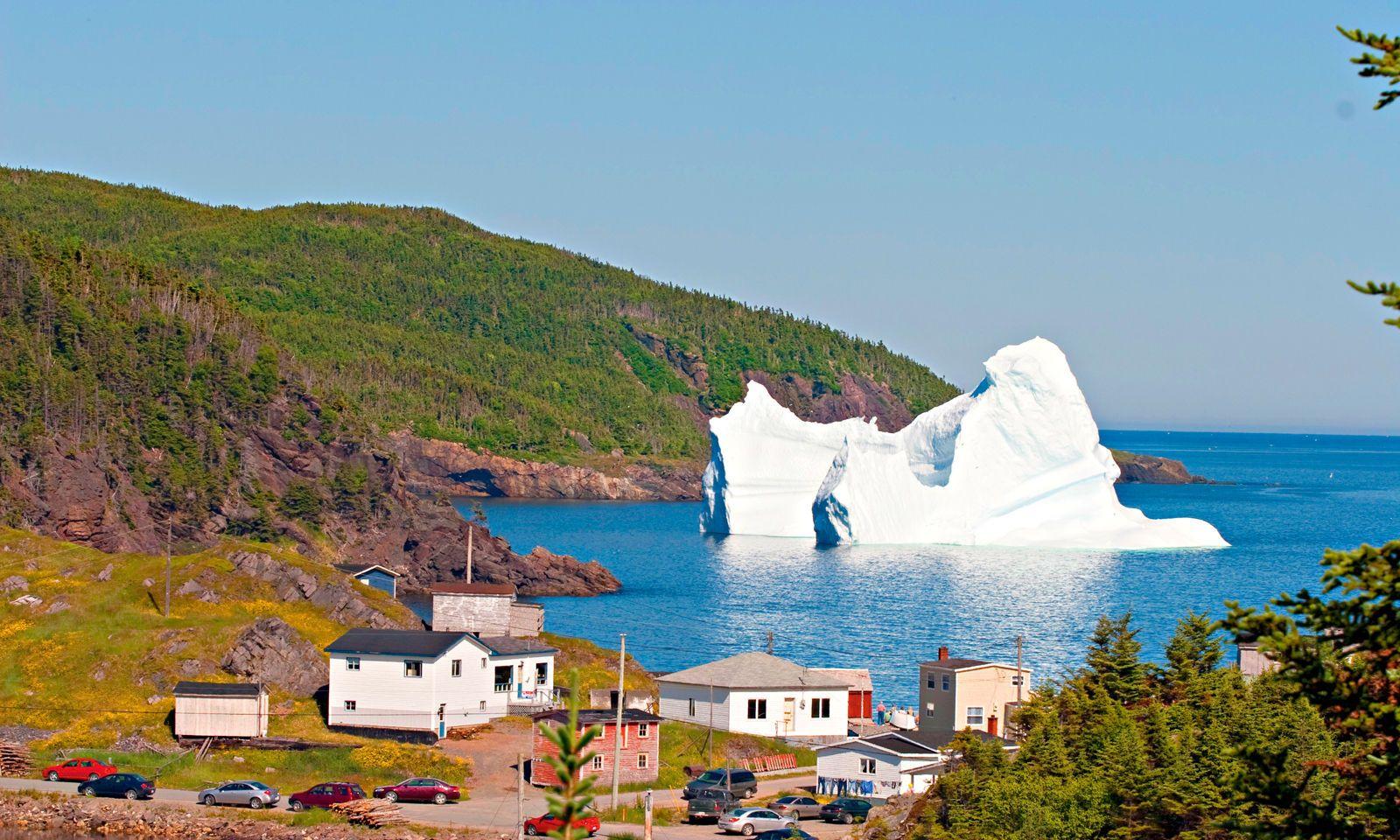 Manche Gletscher erreichen schließlich Neufundland.