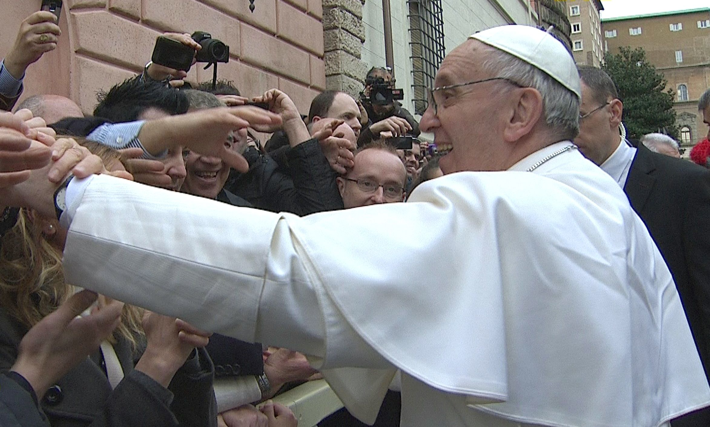 Erstes AngelusGebet 150000 Pilger