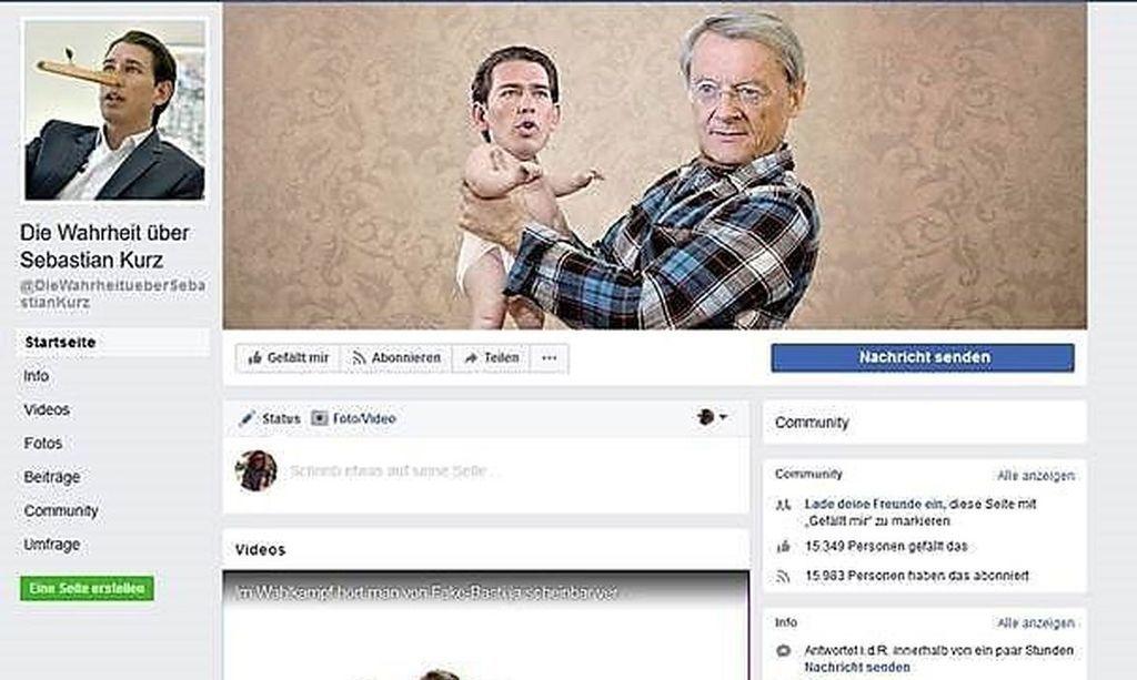 """Das Team von SPÖ Ex-Berater Tal Silberstein betreibt die Facebookseite """"Die Wahrheit über Sebastian Kurz"""""""