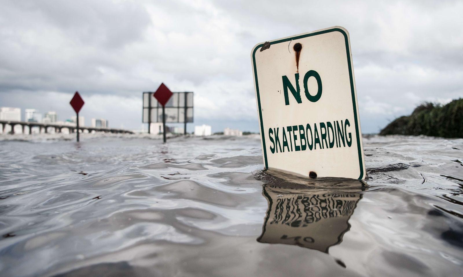 An Skateboard-Fahren ist momentan nicht zu denken.