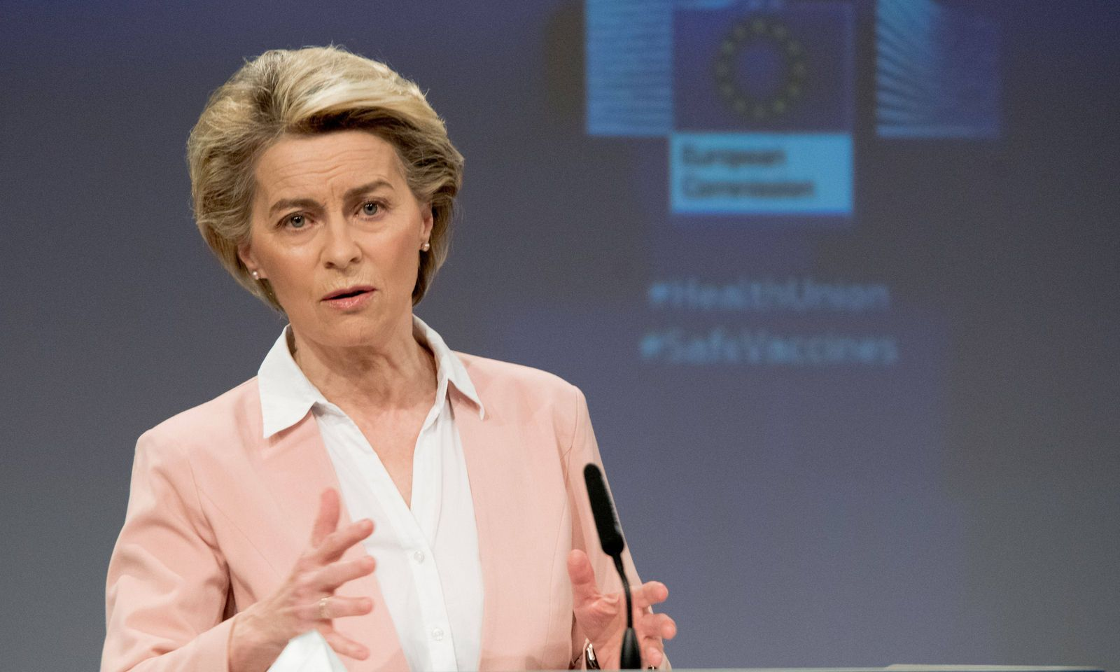 Ursula von der Leyen, Kommissionschefin.