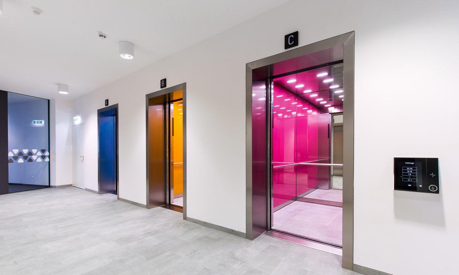Vom Dach über den Lift bis in die Garage: Neue Technologien, etwa im Orbi Tower, machen Kommunikation ohne Unterbrechungen möglich.