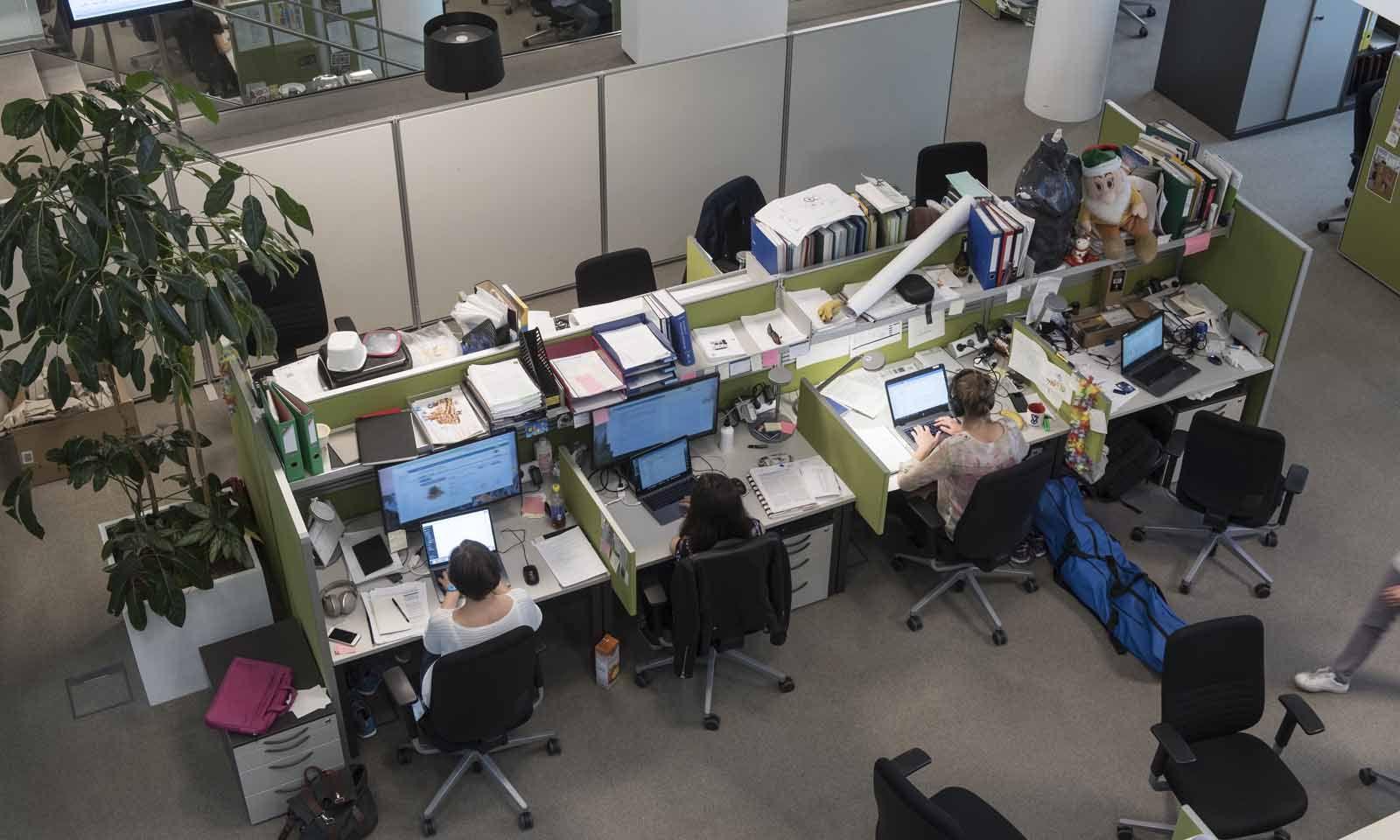 Studenten und Postdoktoranden bei der Arbeit