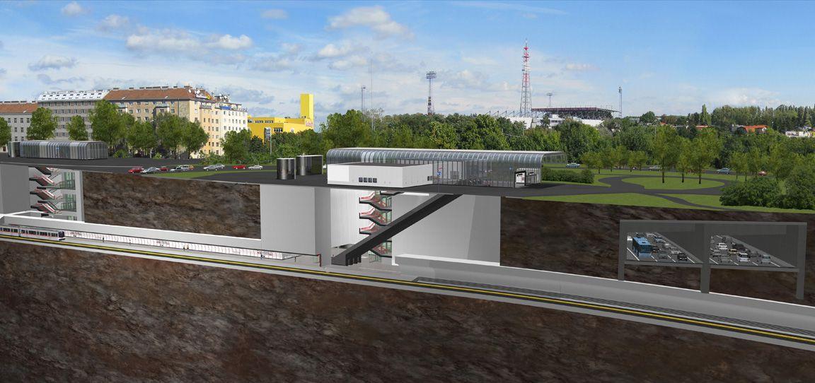 Eine Visualisiereung der geplanten Station Altes Landgut