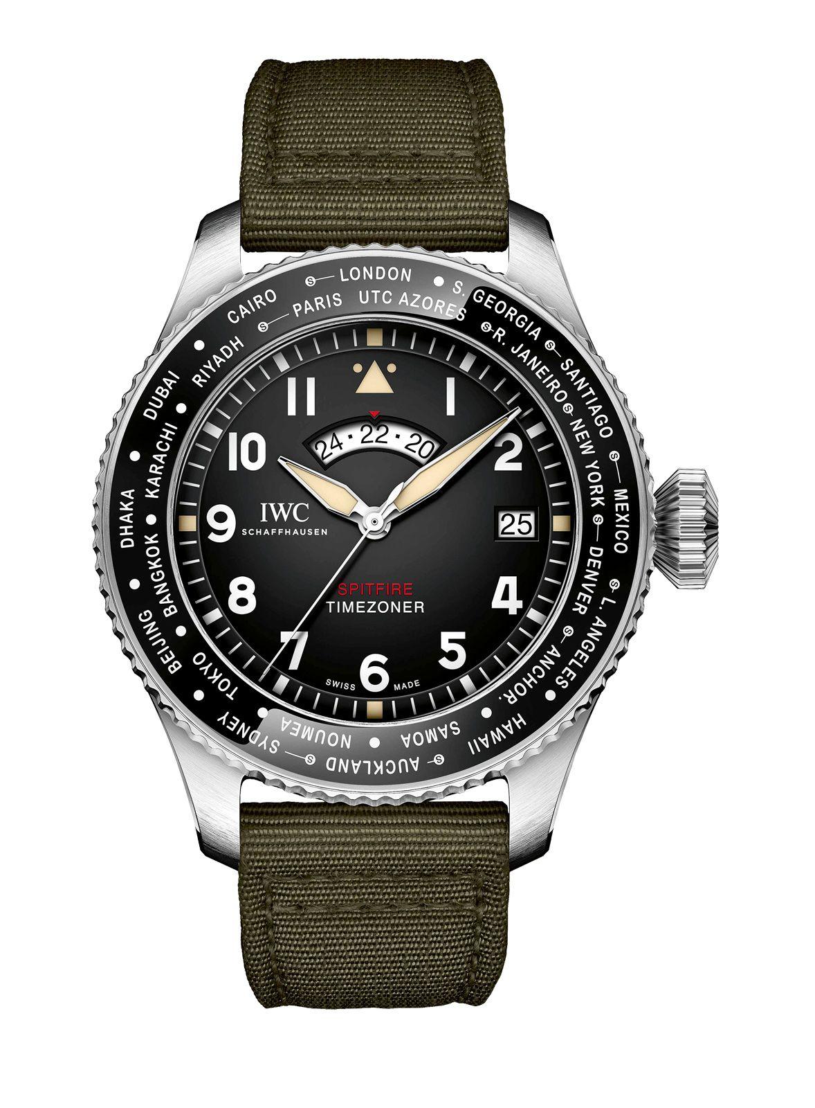 """Bei der SIHH stellt IWC erstmals die Pilot's Watch Timezoner Spitfire Edition """"The Longest Flight"""" offiziell vor."""