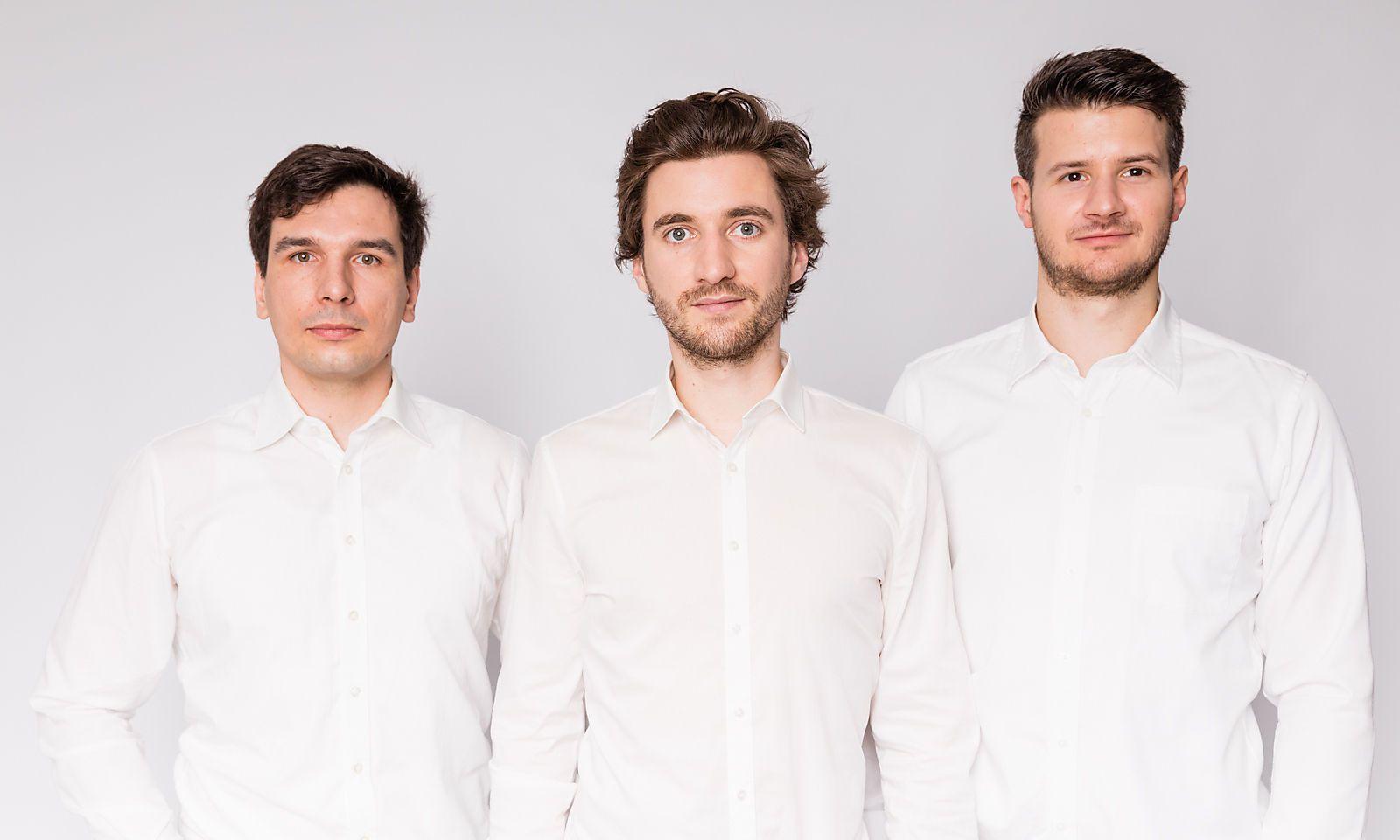 Das EET-Gründerteam Stephan Weinberger, Christoph Grimmer und Florian Gebetsroither (von links).