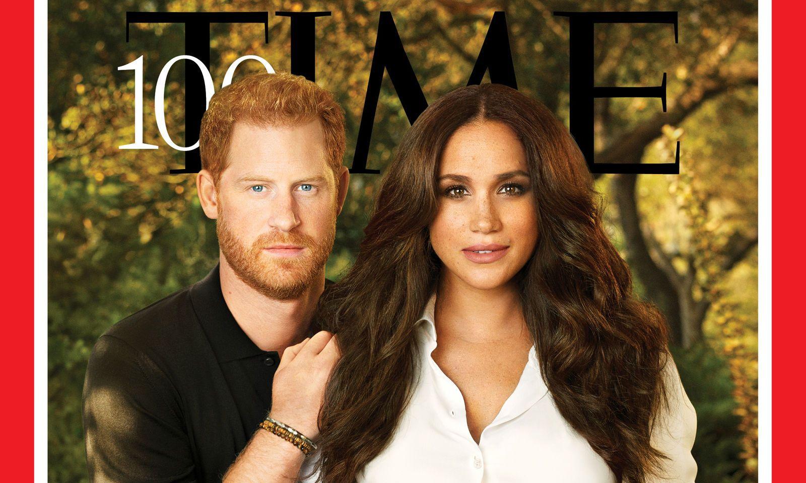 "Harry und Meghan am Cover des ""Time""-Magazins"