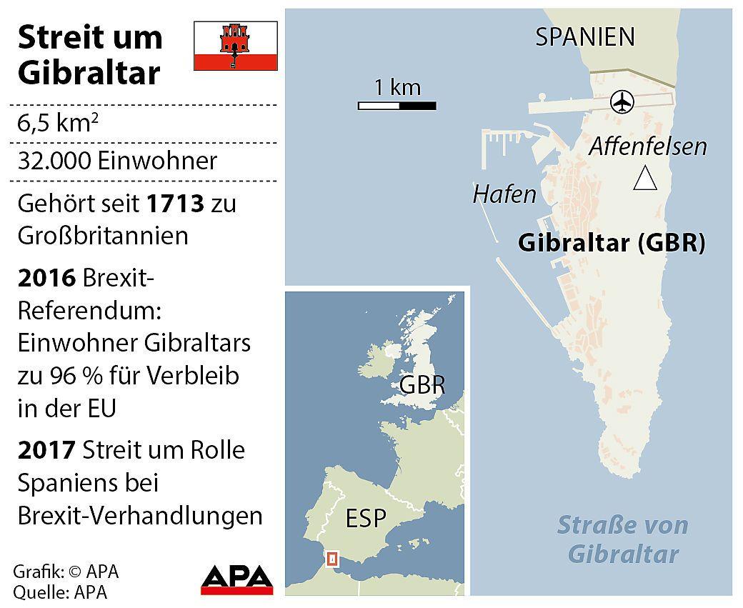 Gibraltar gehört seit 1713 zum Vereinigten Königreich.