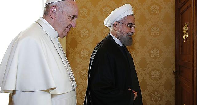Papst Franziskus und Hassan Rohani im Vatikan.