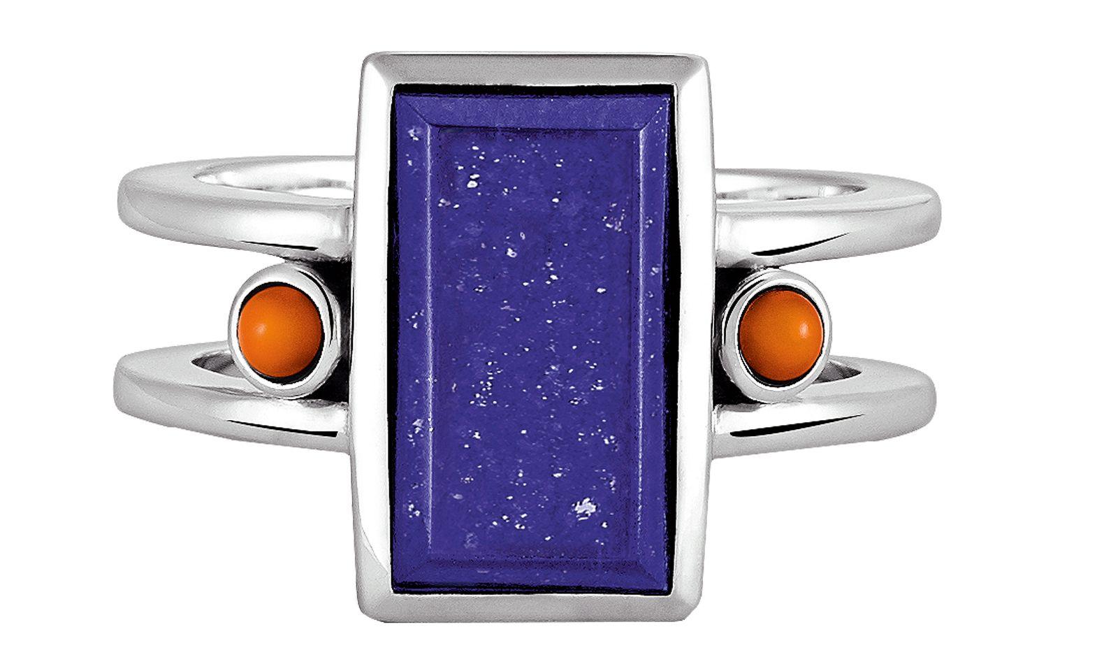 Blaupause. Ring mit Lapislazuli und Karneol von Dorotheum Juwelier.
