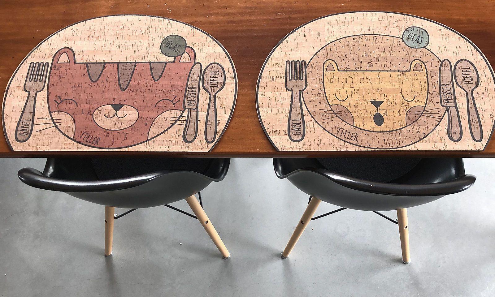 Tischsets aus Kork von Clarissa Kork